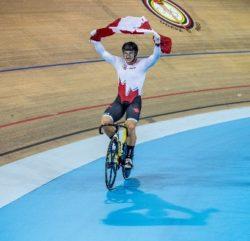 Cycliste drapeau